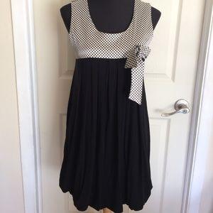 Jus D'Orange, Paris Polka Doted & Black Dress